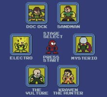 8-Bit Spider-Man Sinister Six Stage Select T-Shirt