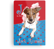 J is for Jack Russell Metal Print