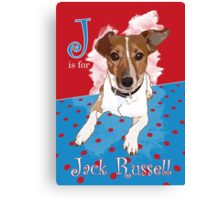 J is for Jack Russell Canvas Print