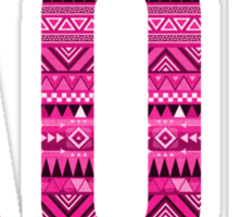 alpha omicron pi pink aztec tribal print Sticker