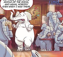 Large White Elephant In The Room by Rick  London