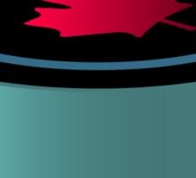 Hockey puck with red maple leaf Sticker