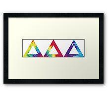 tri delta tie dye print Framed Print