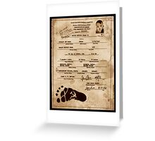 President Barack Hussein Obama's Certificate Of Birth - Birther Edition Greeting Card