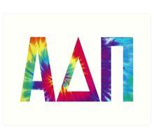 alpha delta pi tie dye print Art Print