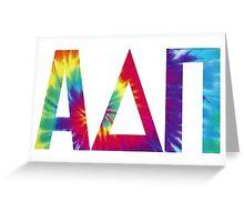 alpha delta pi tie dye print Greeting Card