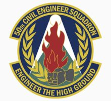 50th Civil Engineer Squadron - Engineer The High Ground by VeteranGraphics