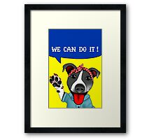 Lu the Riveter! Framed Print