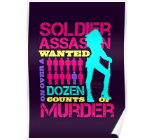 Soldier, Assassin, Wanted For Murder Poster