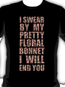 By My Pretty Floral Bonnet T-Shirt