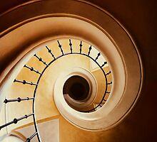 Spiral stairs in brown tones by JBlaminsky