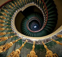Spiral stairs with ornamented handrail by JBlaminsky