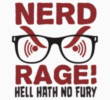 Nerd Rage - Hell Hath No Fury T Shirt by wordsonashirt