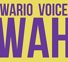 """Wah"" - Wario 2014 Sticker and Poster? by MushroomBoy1022"