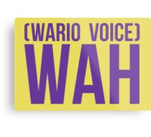 """Wah"" - Wario 2014 Sticker and Poster? Metal Print"