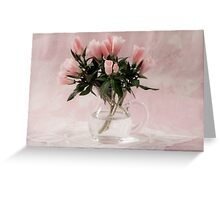 Godetia Bouquet Greeting Card