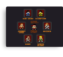 8-bit Mortal Kombat 'Megaman' Stage Select Screen Canvas Print