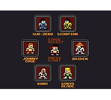 8-bit Mortal Kombat 'Megaman' Stage Select Screen Photographic Print