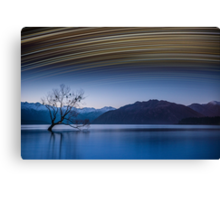 Lake Wanaka Start Trails Canvas Print