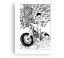 Akira Kaneda Biker Canvas Print