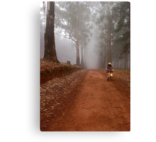 UP CLOSE: THE  BICYCLE MAN AND THE LANTERN Canvas Print