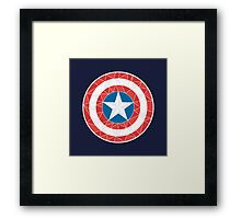 Captain America - Stylised Shield Framed Print