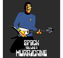 Spock You (White Font) Photographic Print