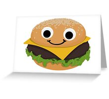 Burgie the Floating Burger Greeting Card