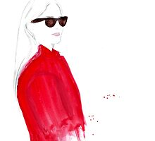 What ELLE Wears - The Red Coat by FallintoLondon