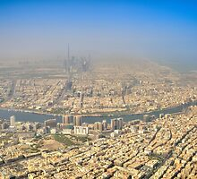Dubai from the air by Phillip Munro