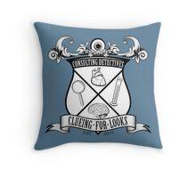 Sherlock's School of Clueing Throw Pillow