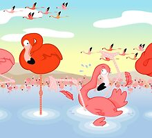 Flamingos by alapapaju