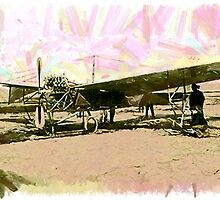Antoinette IV an early French Monoplane circa 1909 by Dennis Melling