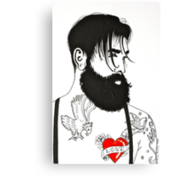 For The Love Of Bearded Men Canvas Print