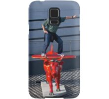 Amelia Air Cow - with passenger Samsung Galaxy Case/Skin