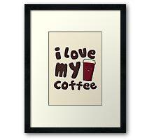 Longtime Coffee Love Framed Print