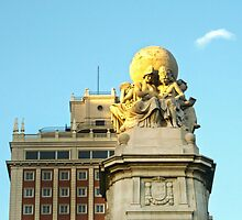 Madrid - Monument at Plaza de España by Michelle Falcony