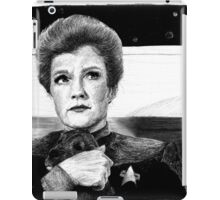 Captain Janeway...AND A PUPPY! iPad Case/Skin