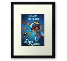 What If Framed Print