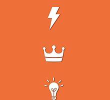 Bolt - Bulb - King / HARRY POTTER - orange by Worldofjoy