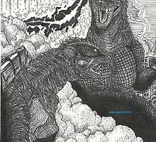 G3 Gamera vs GMK Godzilla by dieland43