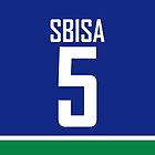Vancouver Canucks Luca Sbisa Jersey Back Phone Case by Russ Jericho