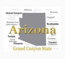 Arizona State Pride Map Silhouette  Kids Clothes