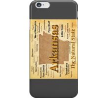 Aged Arkansas State Pride Map Silhouette  iPhone Case/Skin