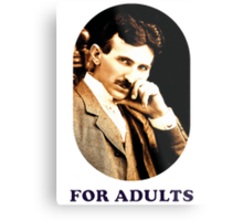 Tesla For Adults Metal Print