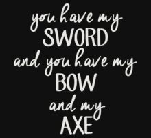 Sword, Bow and Axe by abcmaria