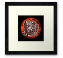 Wibbly Wobbly - Brown Framed Print