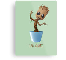 Guardians of the Galaxy - I am Cute Metal Print