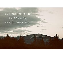 Muir: Mountain Photographic Print