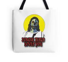 Zombie Jesus Loves You Tote Bag